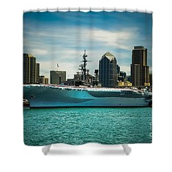 Uss Midway Museum Cv 41 Aircraft Carrier Shower Curtain