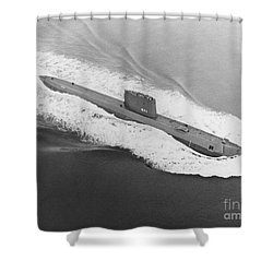Uss Nautilus Worlds First Atomic Submarine Shower Curtain by Science Source