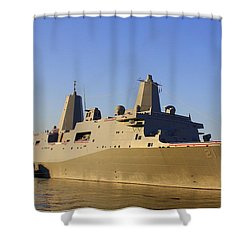 Uss New York - Lpd21 Shower Curtain