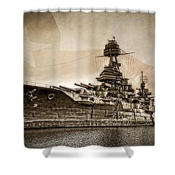 U.s.s. Texas Shower Curtain by Ken Smith