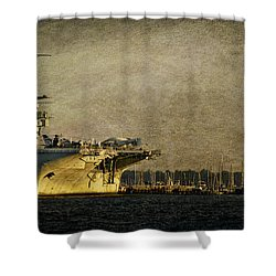 Uss Yorktown Cv10 Shower Curtain