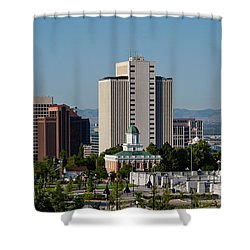 Utah State Capitol Building, Salt Lake Shower Curtain by Panoramic Images