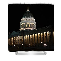 Shower Curtain featuring the photograph Utah State Capitol East by David Andersen
