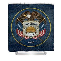 Utah State Flag Vintage Version Shower Curtain
