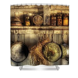 Utensils - Old Country Kitchen Shower Curtain