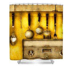 Utensils - The Kitchen  Shower Curtain by Mike Savad