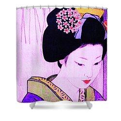Utsukushii Josei Ichi Shower Curtain by Roberto Prusso