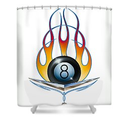 V 8 Shower Curtain by Alan Johnson