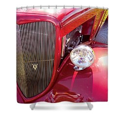 V8 Classic Car Shower Curtain