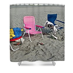 Vacation Time Beach Art Prints Shower Curtain by Valerie Garner