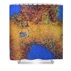 Vacationing On A Painting Shower Curtain by James W Johnson