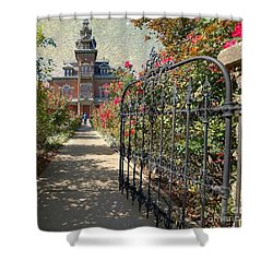 Vaile Landscape And Gate Shower Curtain