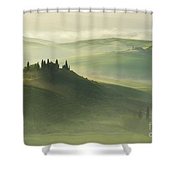 Val D'orcia Shower Curtain by Jaroslaw Blaminsky