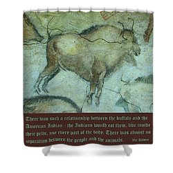 Val Kilmer On The Bison Shower Curtain by Unknown