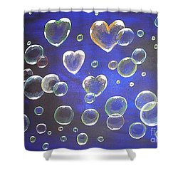 Valentine Bubbles Shower Curtain