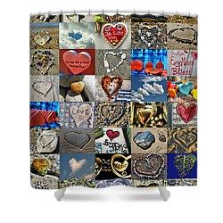 Valentine - Hearts And Memories   Shower Curtain by Daliana Pacuraru