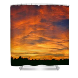 Valentine Sunset Shower Curtain by Tammy Espino