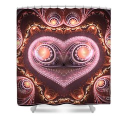 Valentine's Premonition Shower Curtain