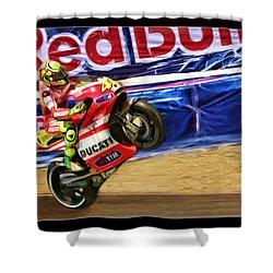Valentino Rossi Ducati Shower Curtain