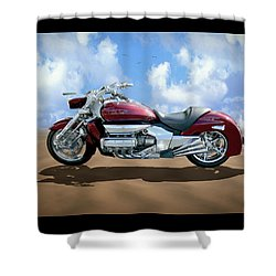 Valkyrie Rune Shower Curtain by Mike McGlothlen