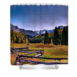 Valley Of Mt Sneffels Shower Curtain