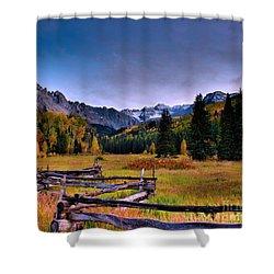 Valley Of Mt Sneffels Shower Curtain