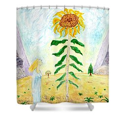Valley Of The Mammoth Sunflowers Shower Curtain