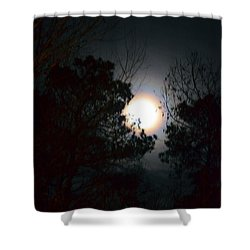 Valley Of The Moon Shower Curtain by Maria Urso
