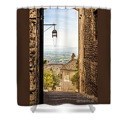 Valley Outside Assisi Shower Curtain
