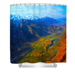 Valley Shadows Shower Curtain