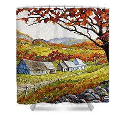Valley View By Prankearts Shower Curtain by Richard T Pranke