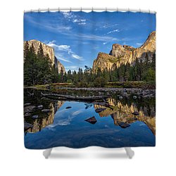 Valley View I Shower Curtain