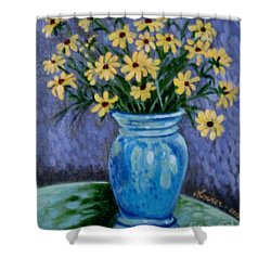 Van Gogh-ish Flowers In A Vase Shower Curtain
