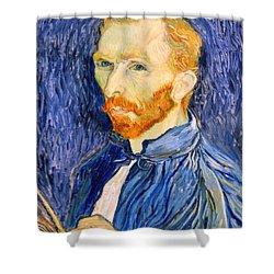 Shower Curtain featuring the photograph Van Gogh On Van Gogh by Cora Wandel