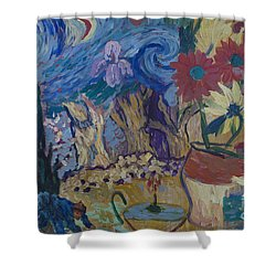 Shower Curtain featuring the painting Van Gogh Spirit by Avonelle Kelsey