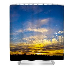 Shower Curtain featuring the photograph Van Gogh Sunset by Jean Haynes
