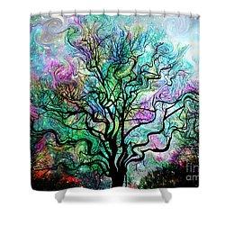 Van Gogh's Aurora Borealis Shower Curtain