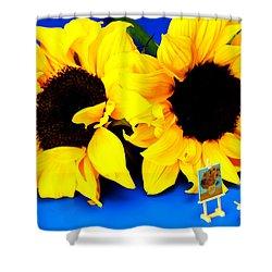 Van Gogh's Sunflower Miniature Art Shower Curtain by Paul Ge