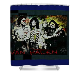 Van Halen - Ain't Talkin' 'bout Love Shower Curtain by Absinthe Art By Michelle LeAnn Scott