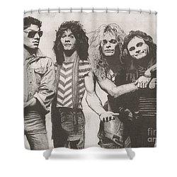Van Halen Shower Curtain by Jeff Ridlen