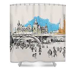 Vancouver Art 003 Shower Curtain by Catf