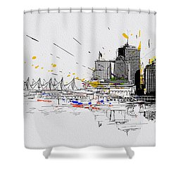 Vancouver Art 004 Shower Curtain by Catf