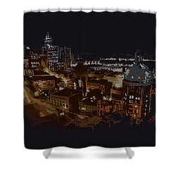 Vancouver Art 009 Shower Curtain by Catf