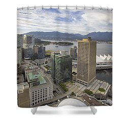 Vancouver Bc City With Stanley Park View Shower Curtain by Jit Lim