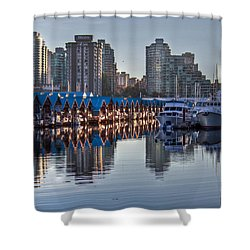 Vancouver Boat Reflections Shower Curtain by Eti Reid