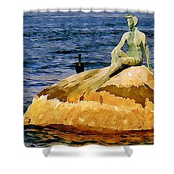 Vancouver Harbour Near Stanley Park Shower Curtain by John Malone