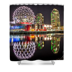 Vancouver Science World In False Creek - By Sabine Edrissi Shower Curtain by Sabine Edrissi