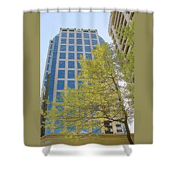 Vancouver Silhouettes No 1 Shower Curtain by Ben and Raisa Gertsberg