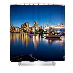 Vancouver Skyline - By Sabine Edrissi Shower Curtain