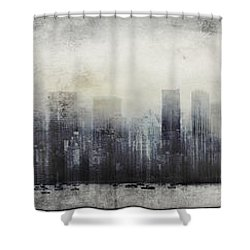 Vancouver Skyline Abstract 1 Shower Curtain by Peter v Quenter